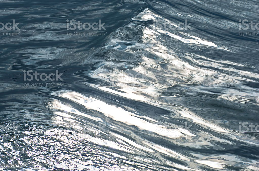 Texture of north atlantic water near arctic polar circle stock photo