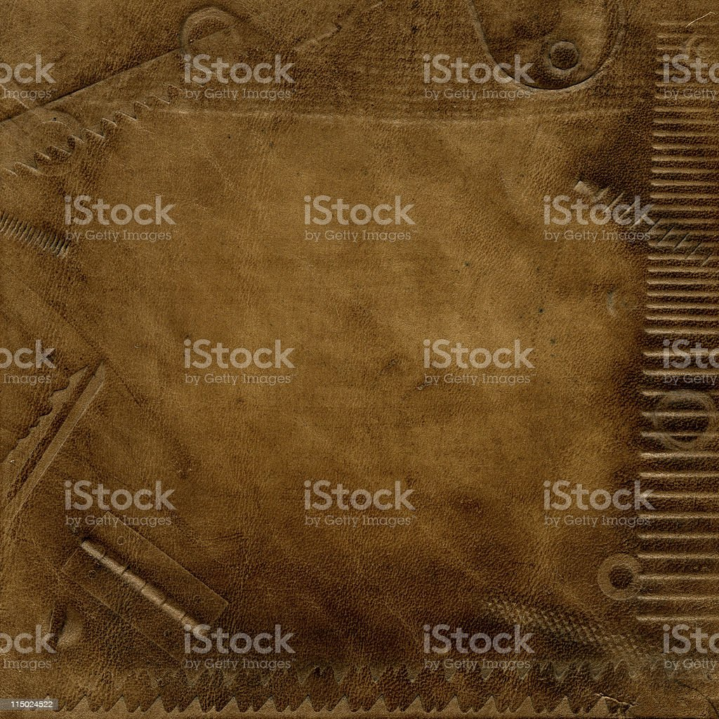 Texture of old leather stock photo