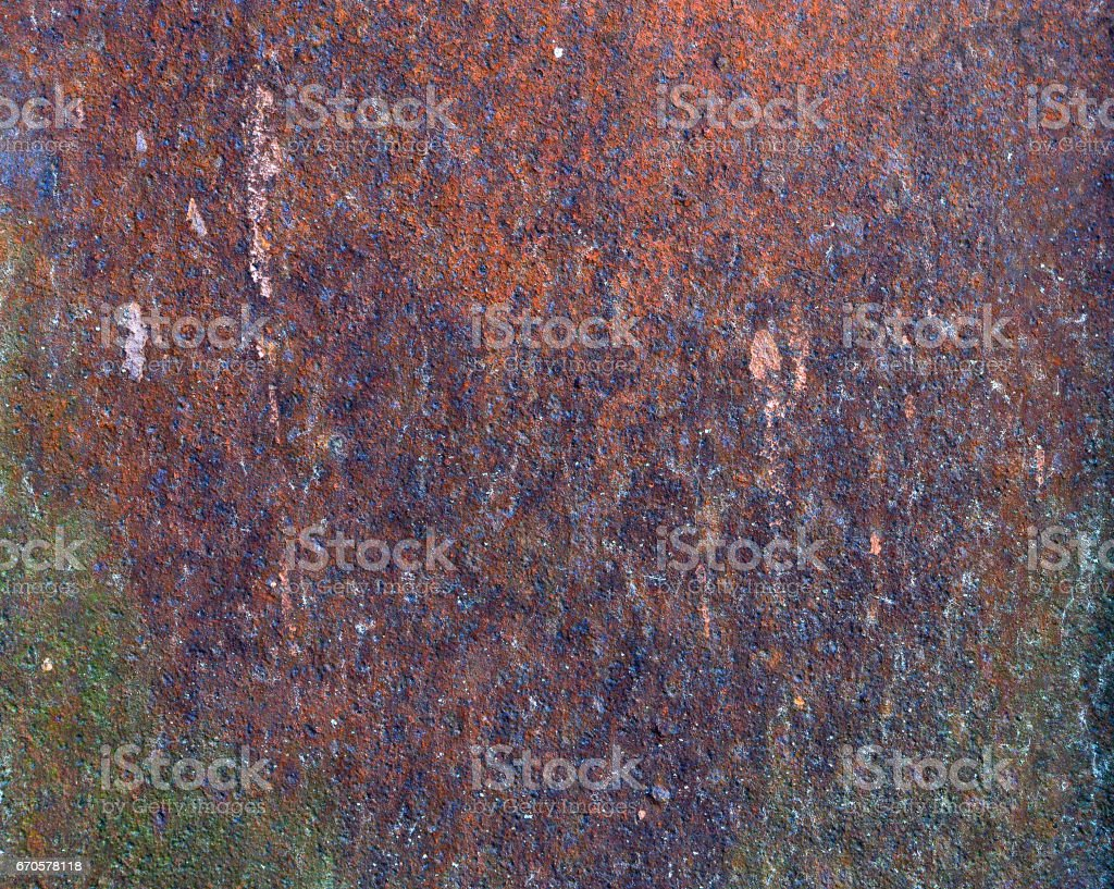 Texture of old rusty metal. Close-up stock photo