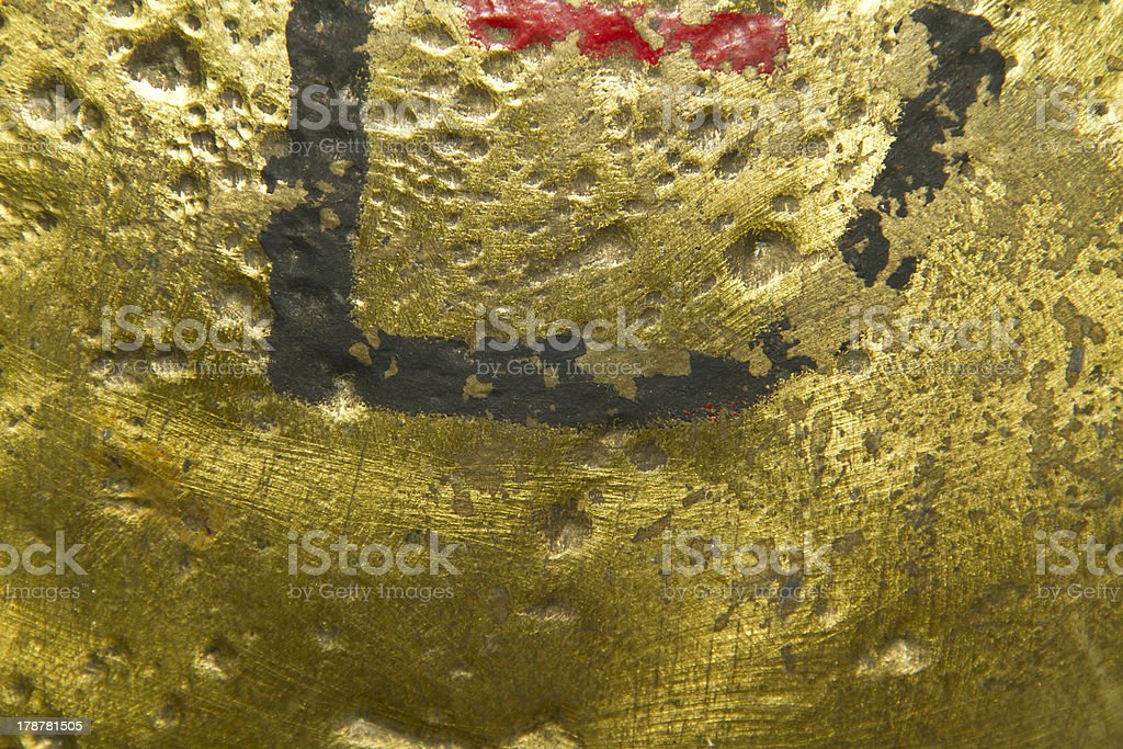 Texture of Old Shiny brass metal plate royalty-free stock photo