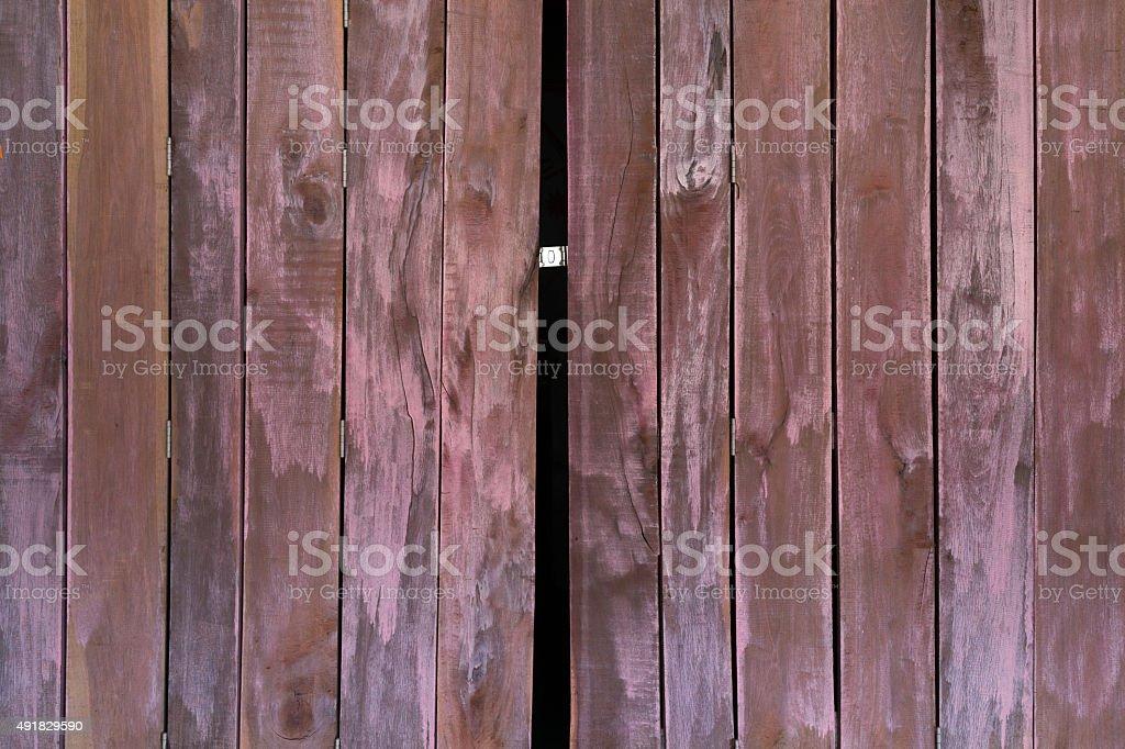 Texture en bois vieux de portes pliantes photo libre de droits