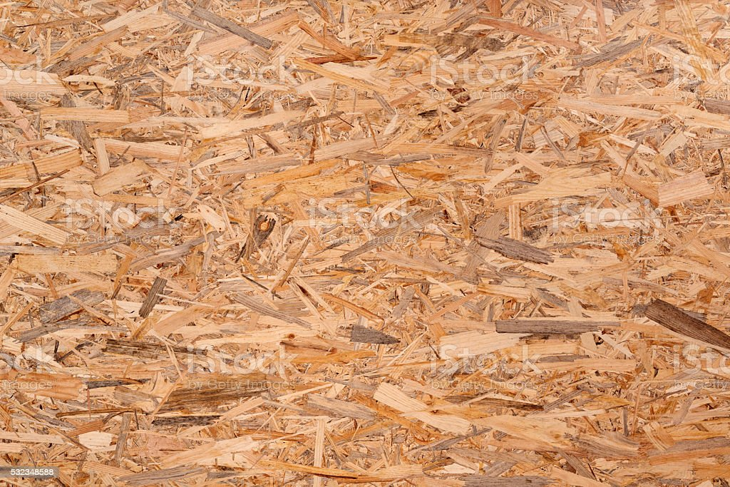 Texture of oriented strand board, OSB stock photo