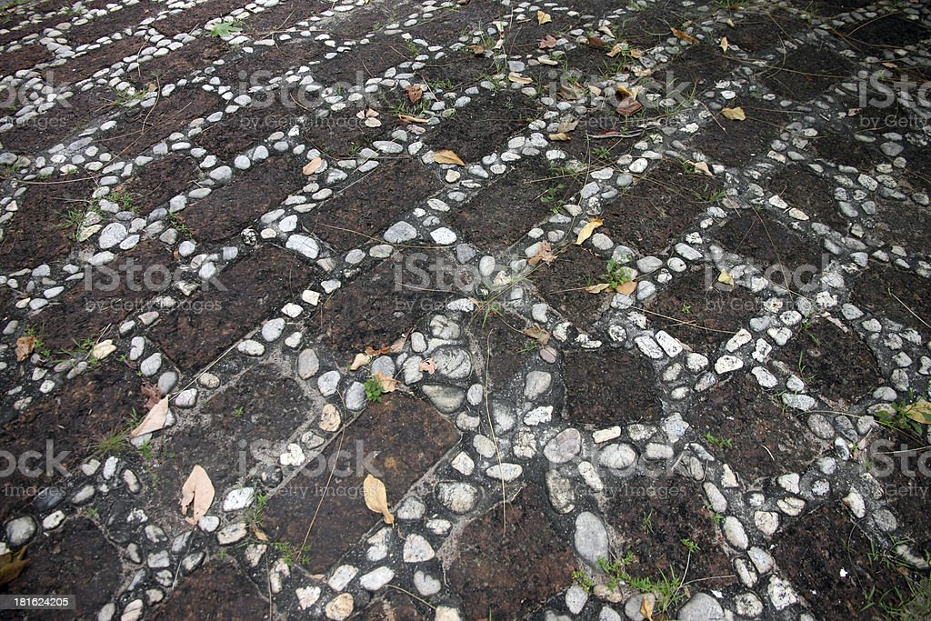 Texture of Pathway made from Rock. royalty-free stock photo