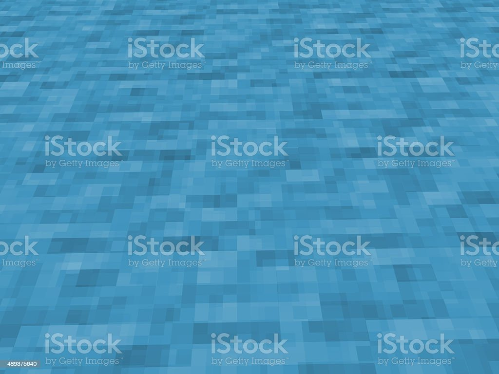 Texture of pixelated flowing water stock photo