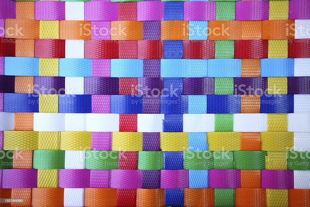 texture of plastic weave stock photo