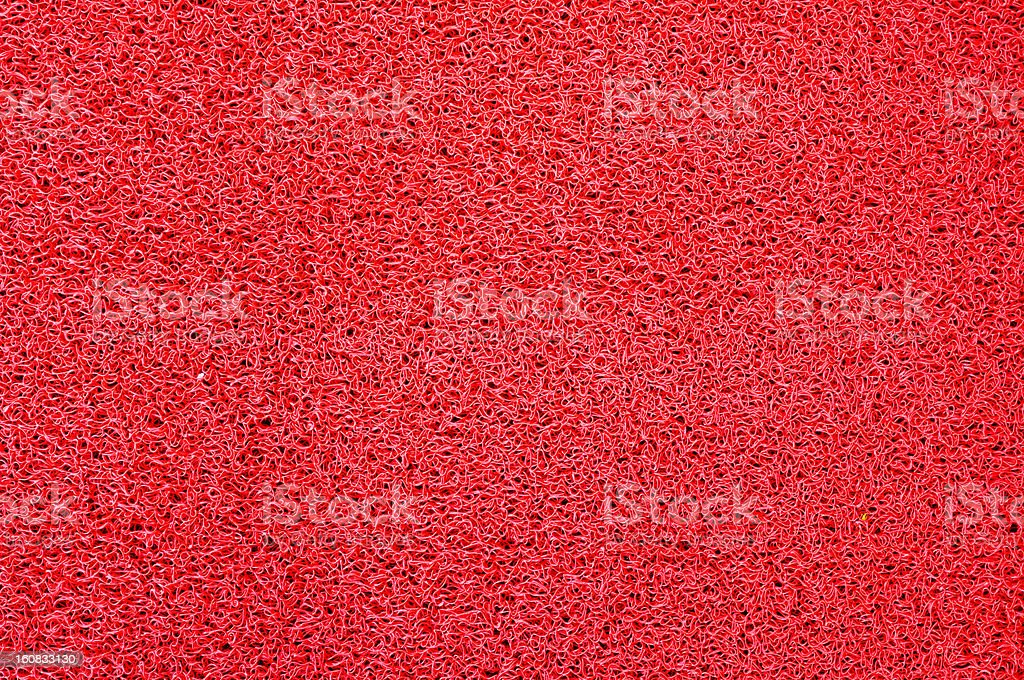 Texture of red Plastic doormat royalty-free stock photo