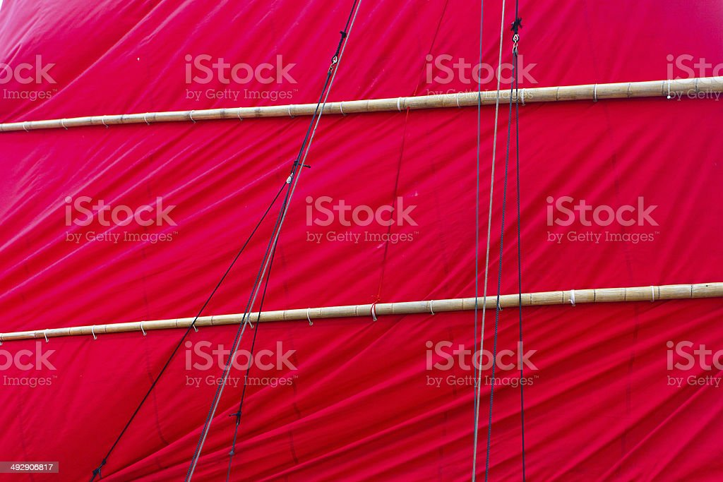Texture of red sail royalty-free stock photo