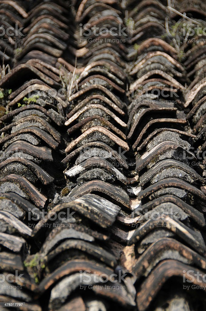 Texture of roof royalty-free stock photo