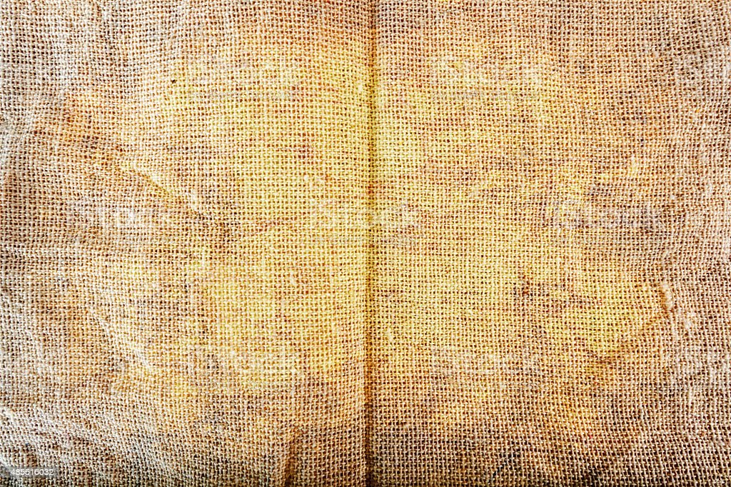 Texture of Sackcloth in grunge style stock photo