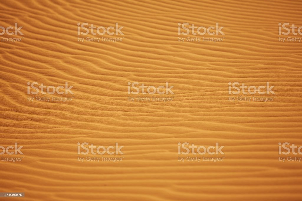 texture of sand in the desert from the winds stock photo