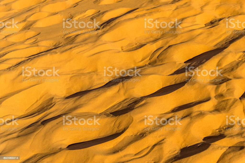 Texture of sand in the Sahara Desert. Merzouga, Morocco stock photo