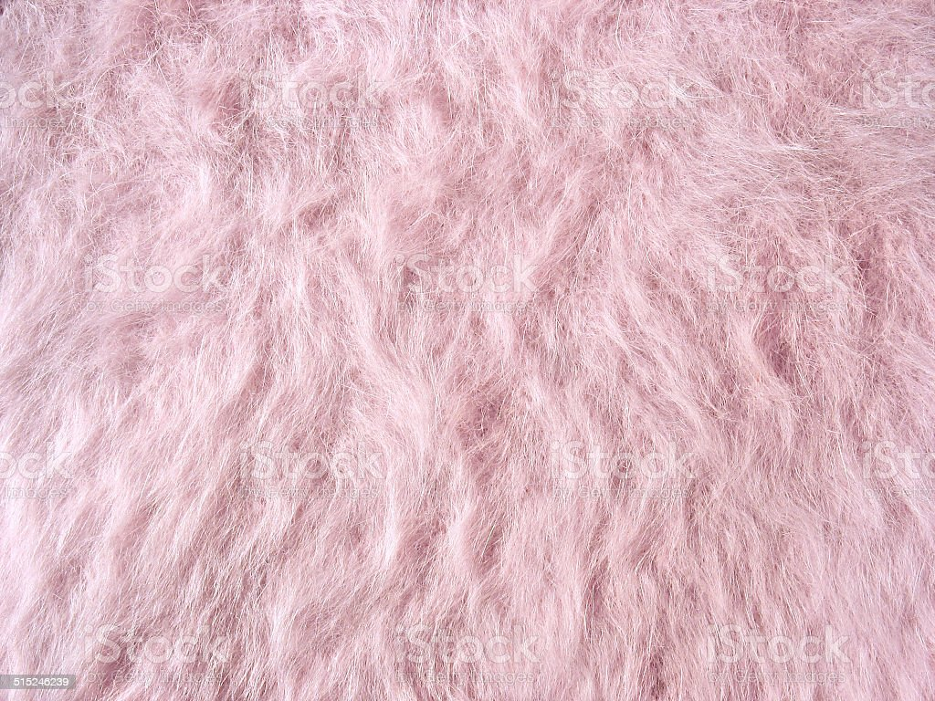 Texture of soft pink fleecy fabric (angora woolen cloth) stock photo