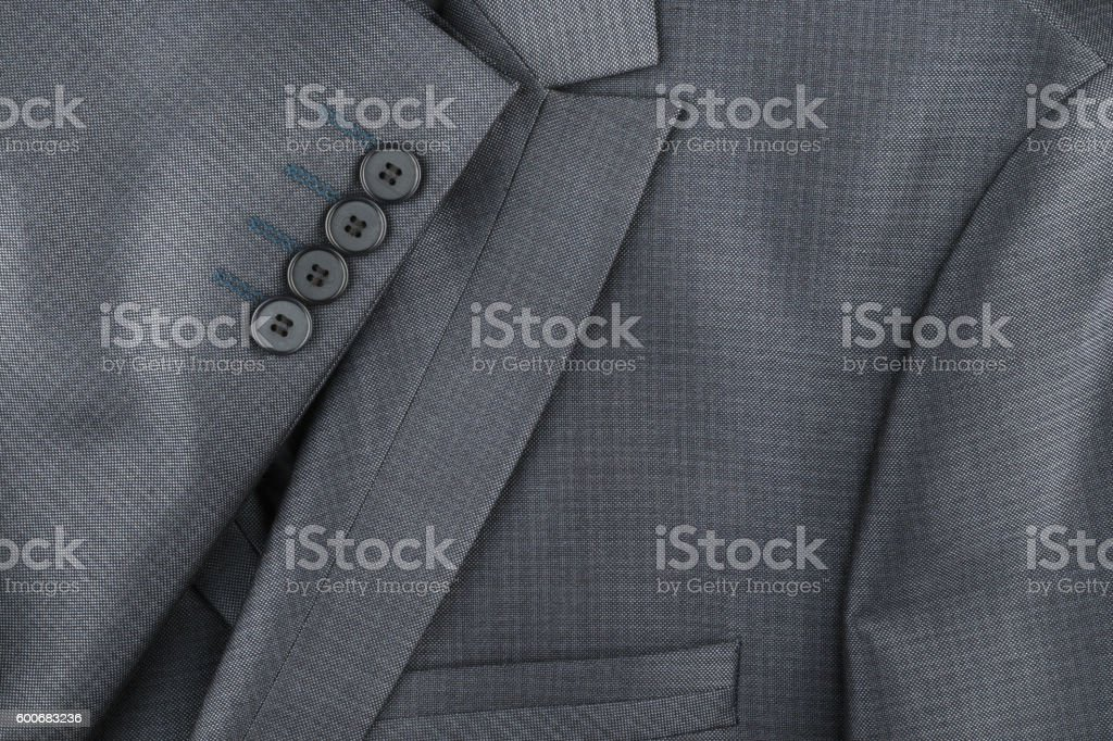 Texture of the classic jacket with pocket and sleeves stock photo