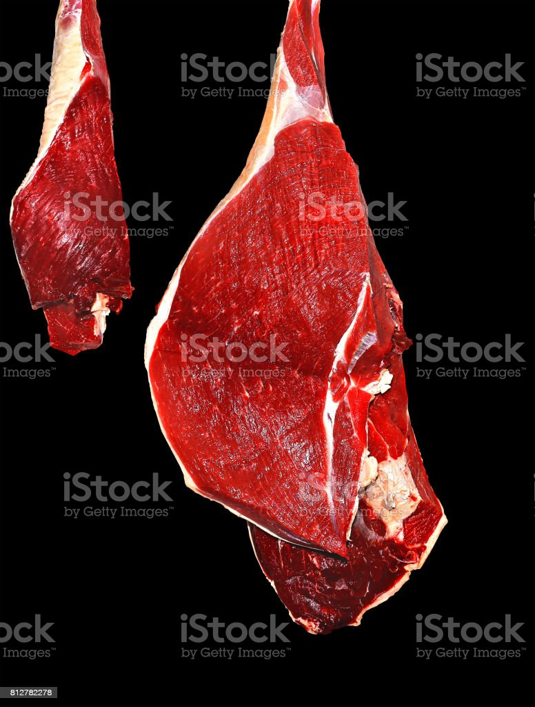 Texture of the cut of meat stock photo