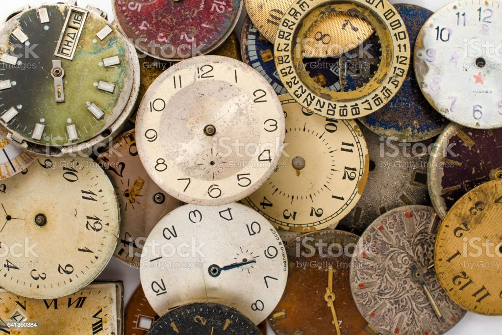 texture of the dials stock photo