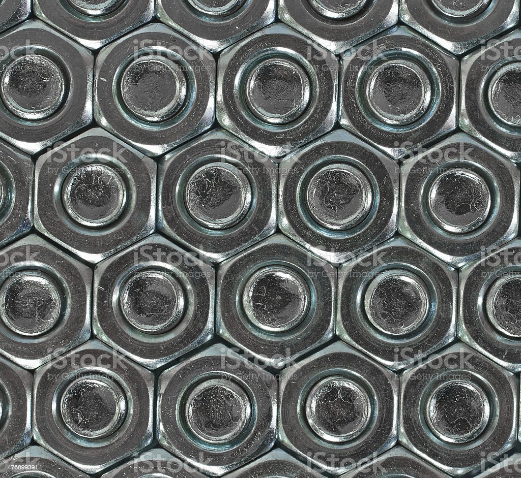 texture of the nuts and bolts royalty-free stock photo