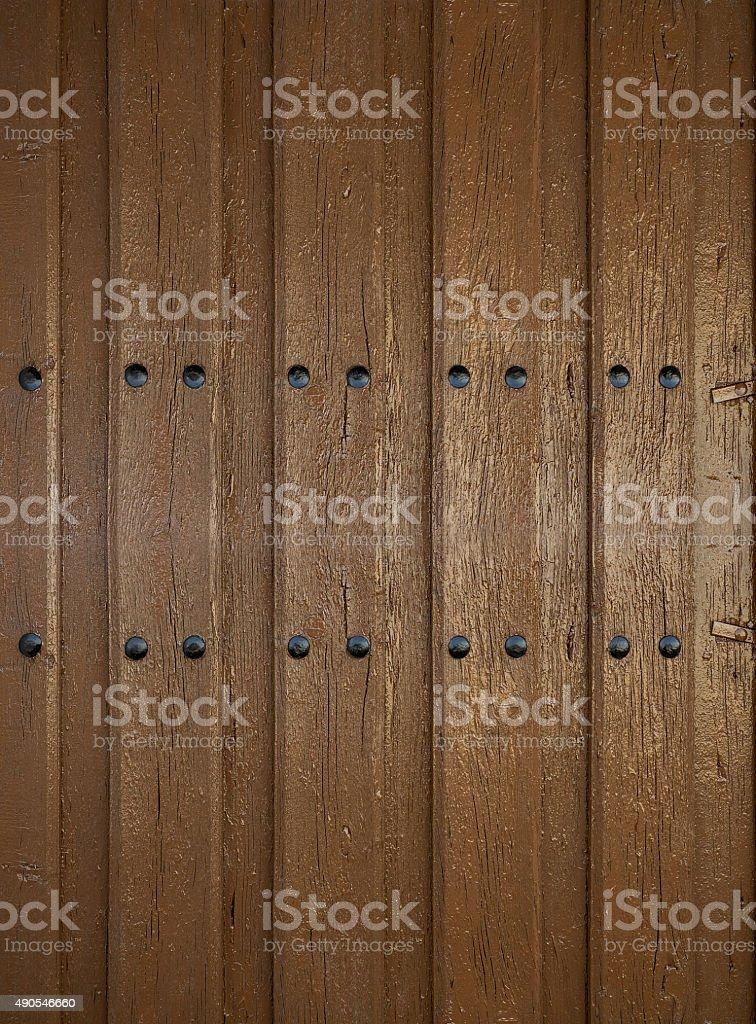Textura da porta de madeira foto royalty-free