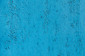 Texture of vintage painted blue iron wall background