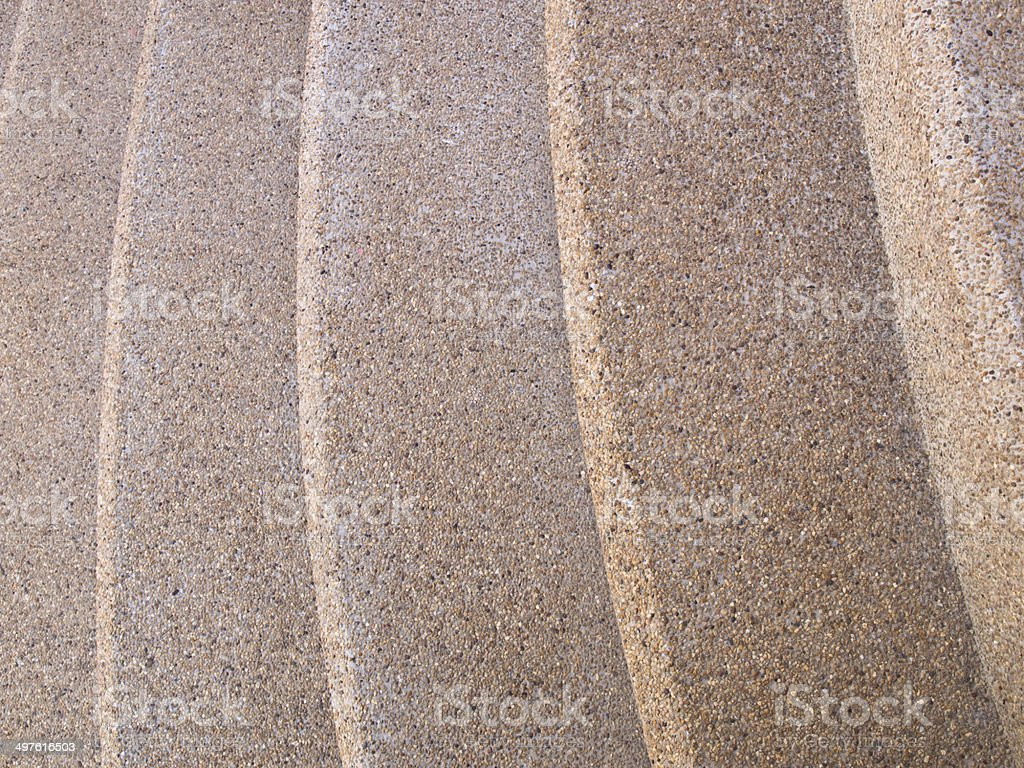 Texture of washed gravel staircase as background royalty-free stock photo