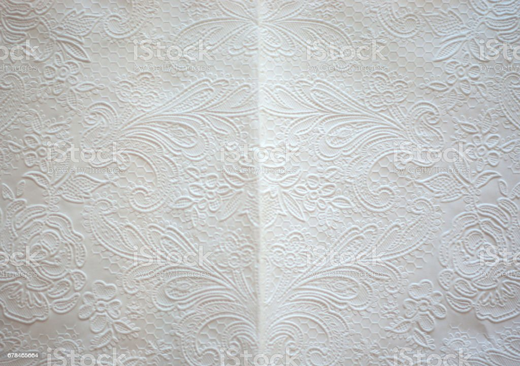 Texture of white art tissue paper background stock photo