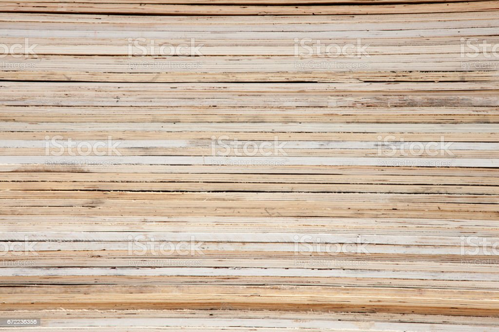 Texture of wood lath wall background  ,Stacked wooden pallets in  buy garbage shop for recycle stock photo