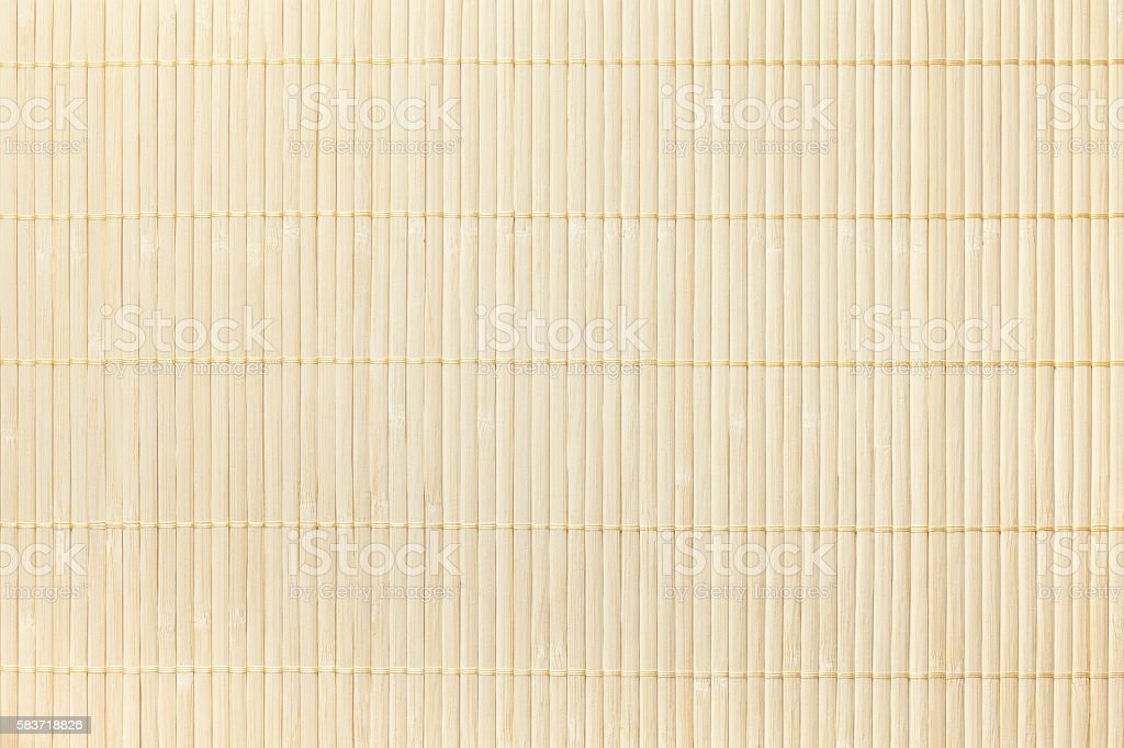 Texture of wooden  Bamboo traditional napkin for a table. stock photo