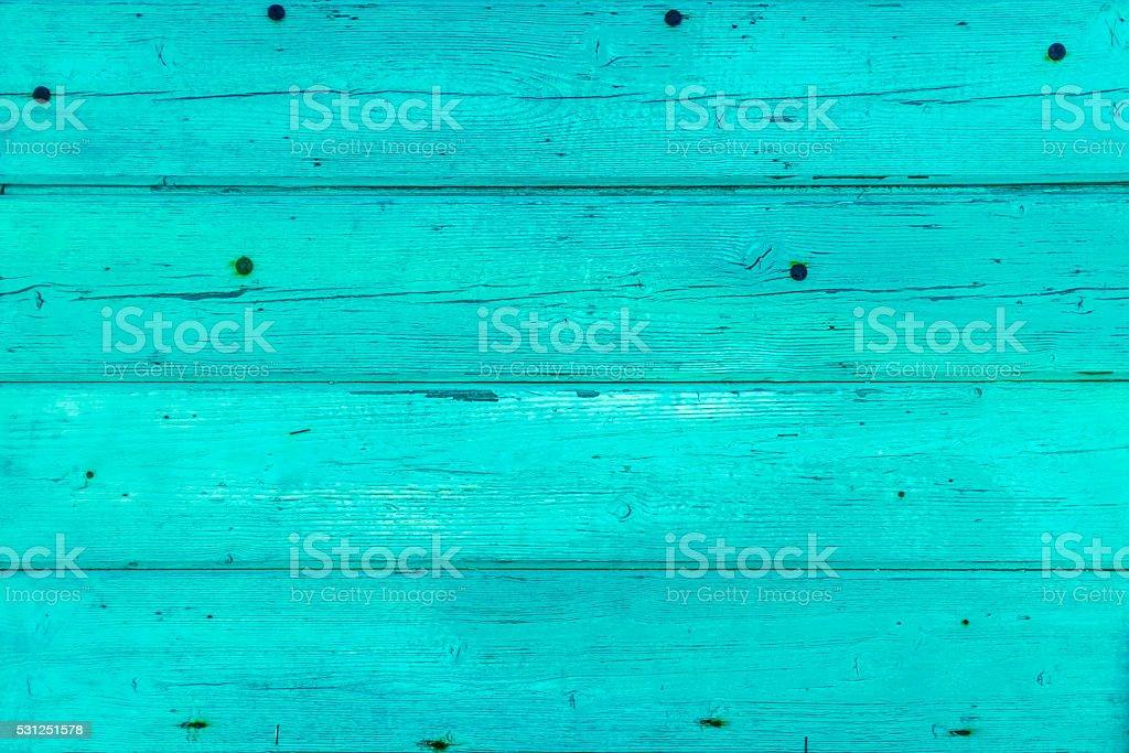 textura de tablas de madera con descamacin de pintura de color azul turquesa foto de stock