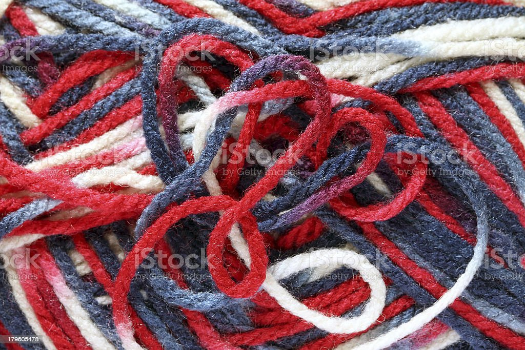 Texture of yarn ball royalty-free stock photo