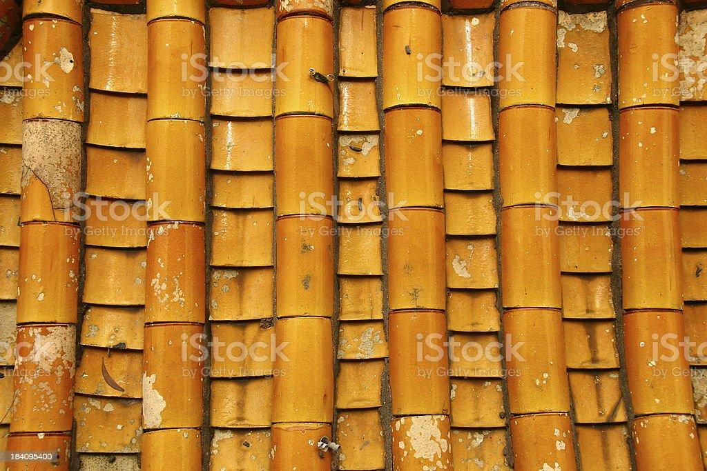 texture - orange roof tiles royalty-free stock photo