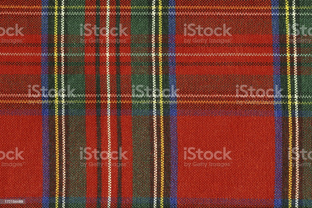 Texture: Plaid Shirt royalty-free stock photo