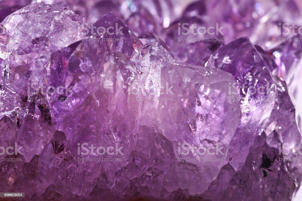 Texture purple crystals. Macro stock photo