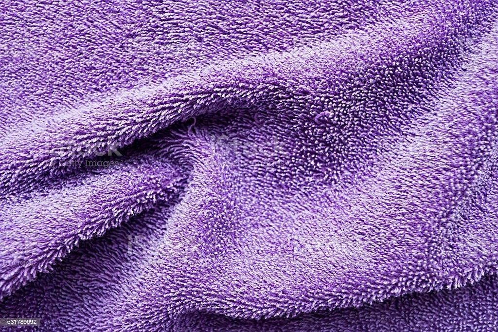 Texture purple fold towel stock photo