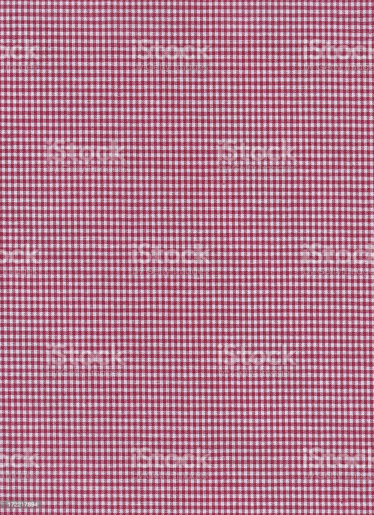 texture- red-white checkered fabric royalty-free stock photo