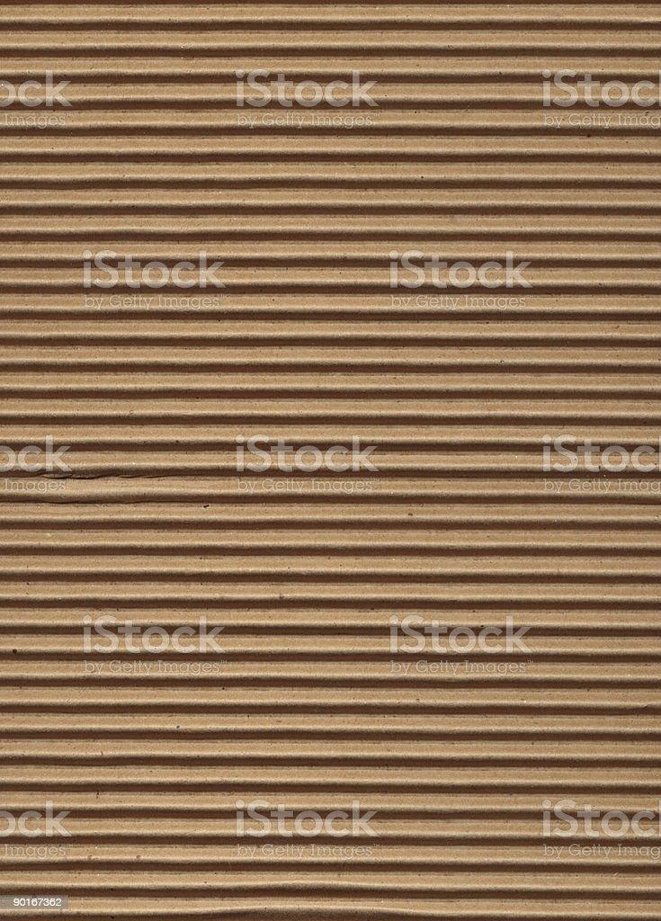 Texture Series - Corrugated Cardboard stock photo