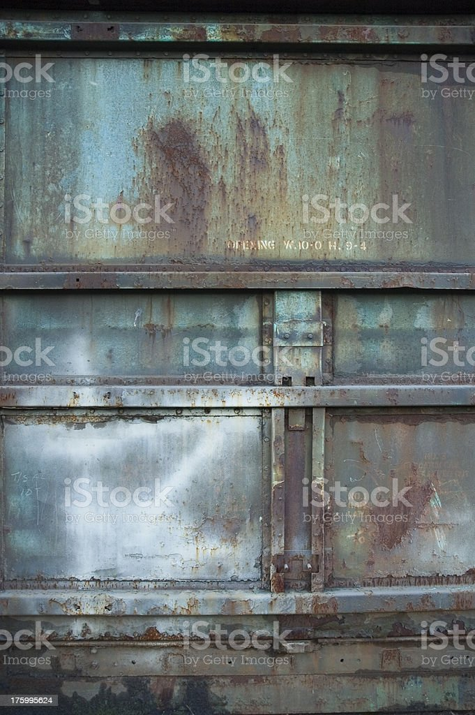 Texture - Steel Container: Blue royalty-free stock photo