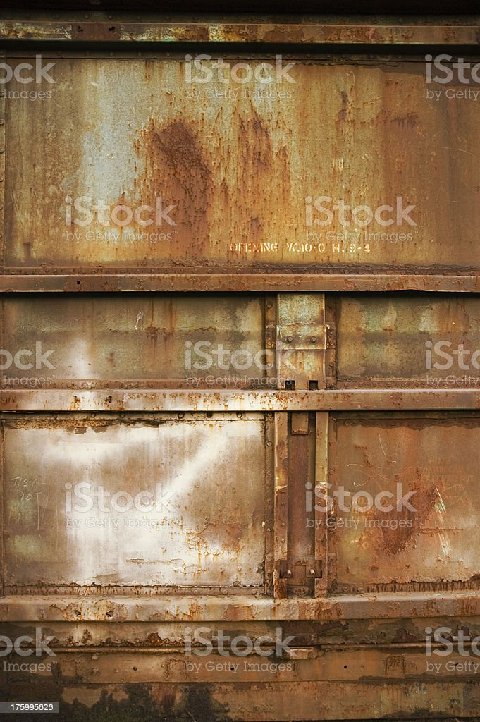 Texture - Steel Container: Red royalty-free stock photo