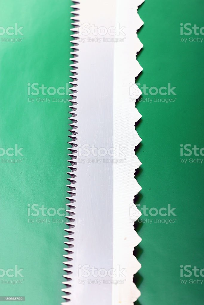 texture steel saw blade stock photo