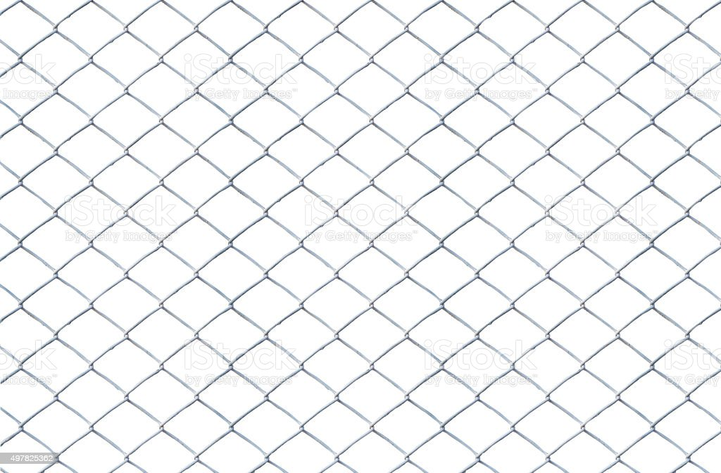 Texture the old cage metal net isolate stock photo