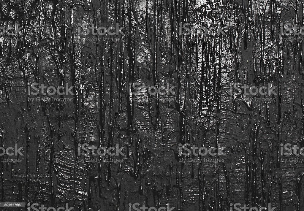 Texture wall with flowing paint, art black background stock photo