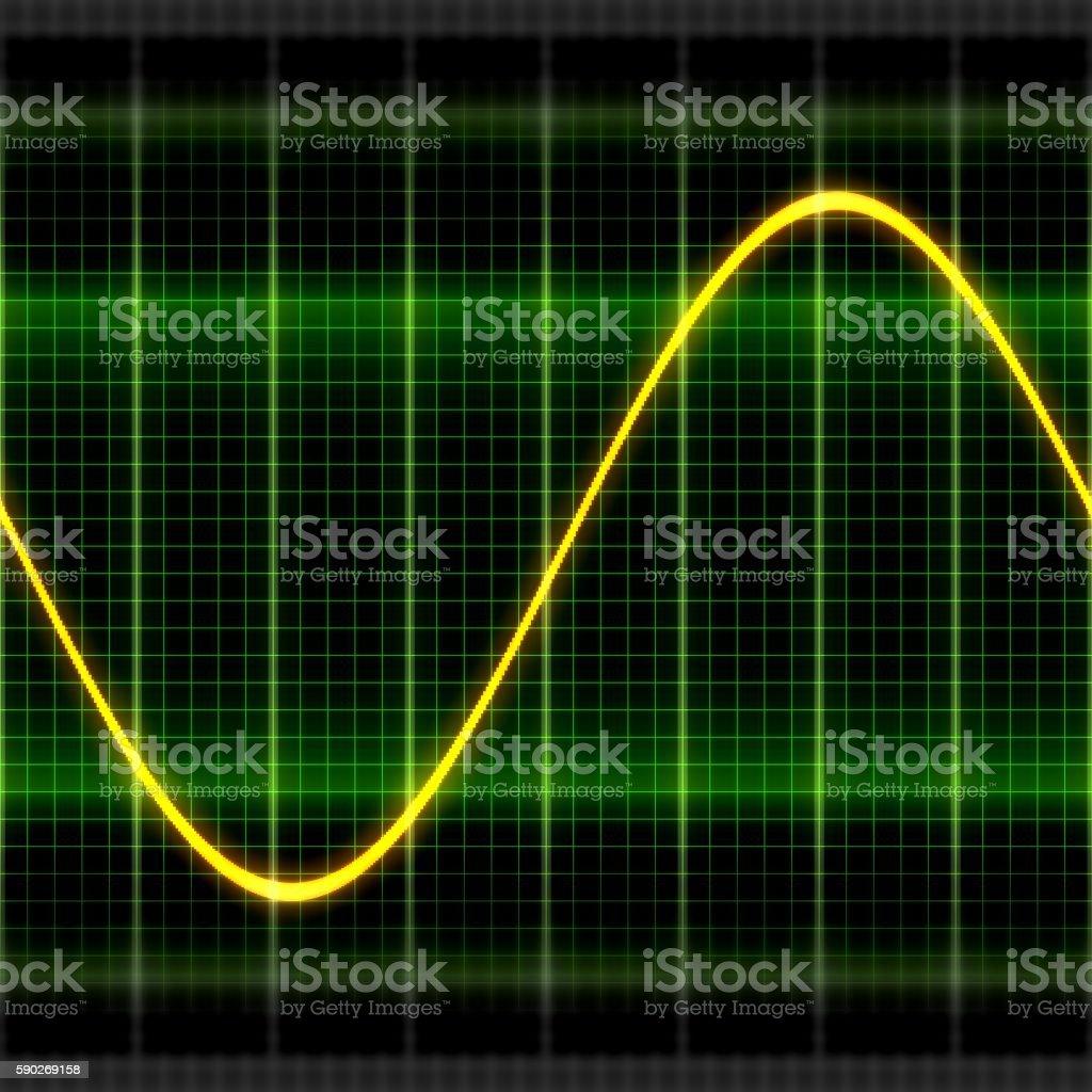 Texture wave oscilloscope 2D illustration stock photo