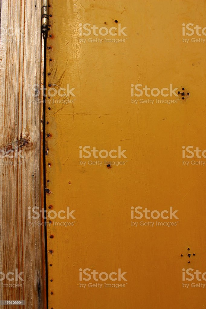 texture wood with nails stock photo