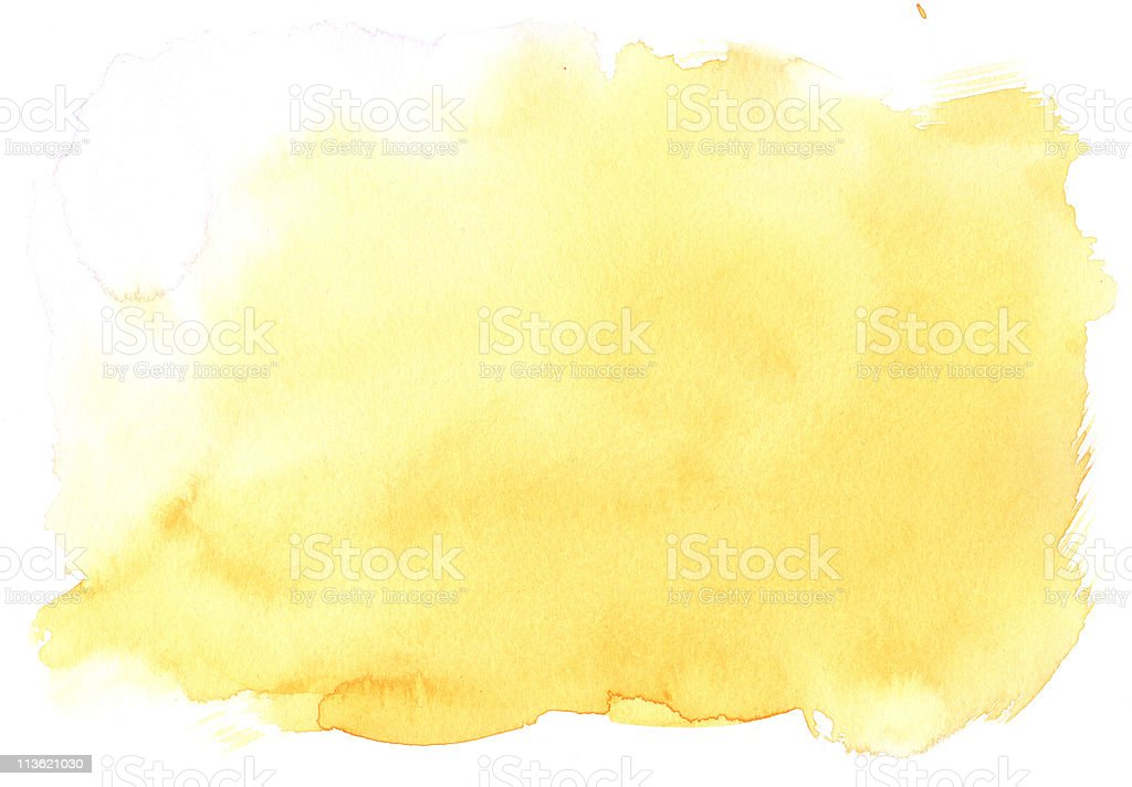 texture yellow watercolor stock photo