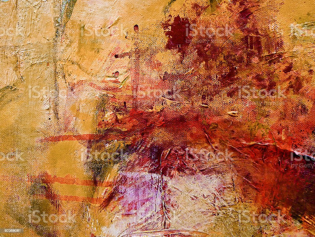 Textured abstract expressionist painting on canvas stock photo