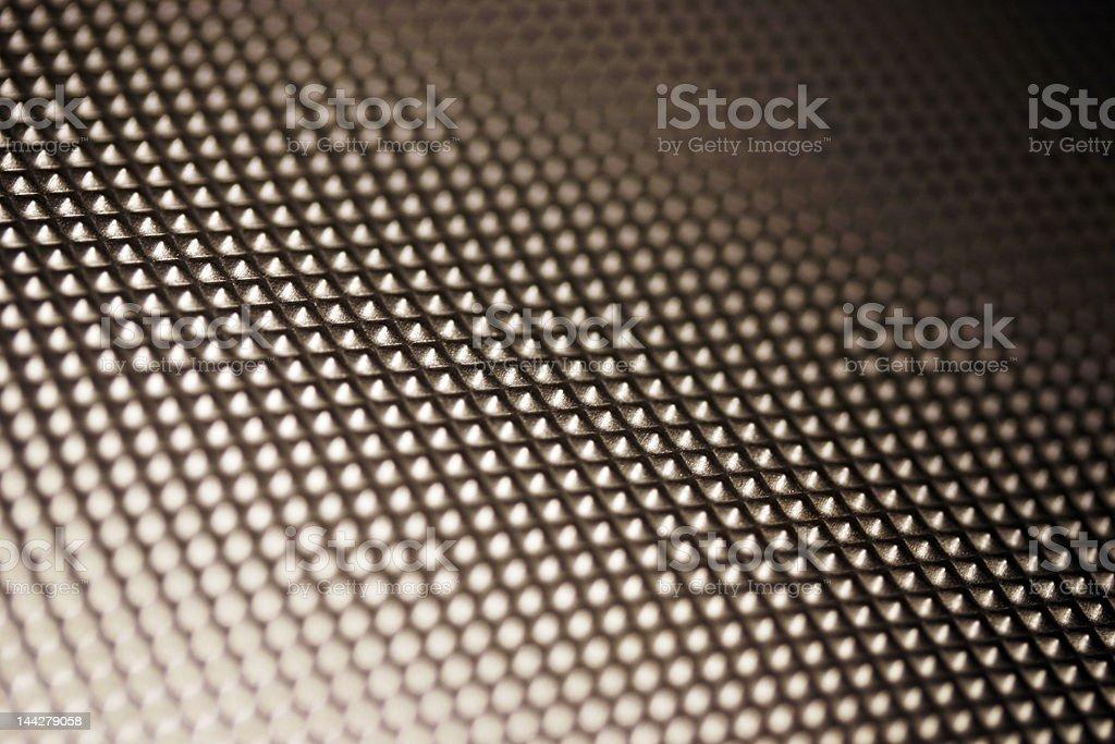 Textured aluminium surface stock photo