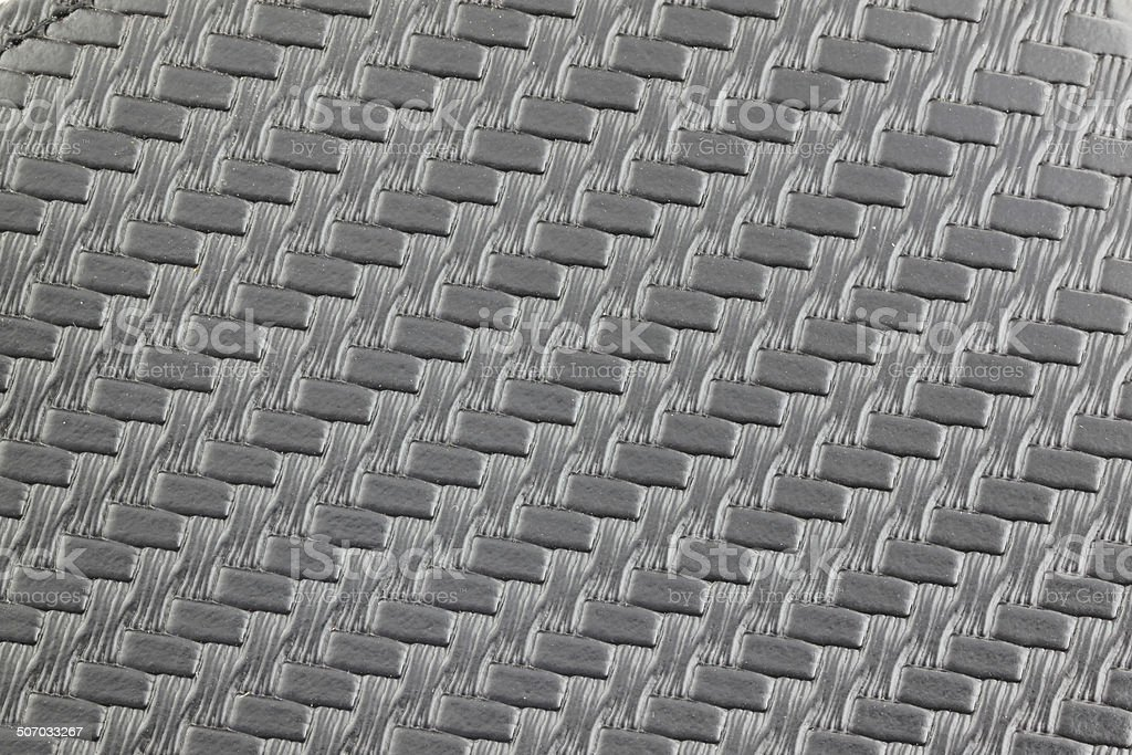 Textured and pattern of black leather. royalty-free stock photo