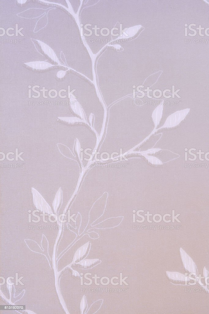 Textured background with a vegetative pattern in the form of a branch with leaves. stock photo
