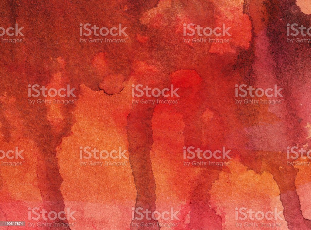 Textured background with red and orange drips of paint vector art illustration