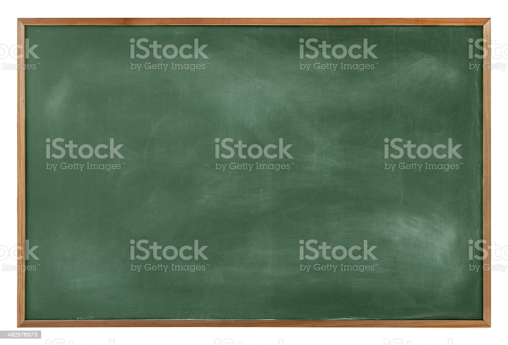 Textured Blackboard with a Brown Border stock photo