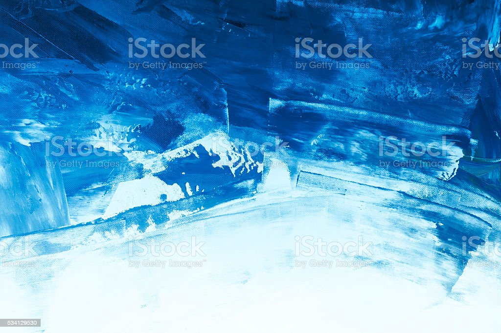 Textured blue painted background stock photo