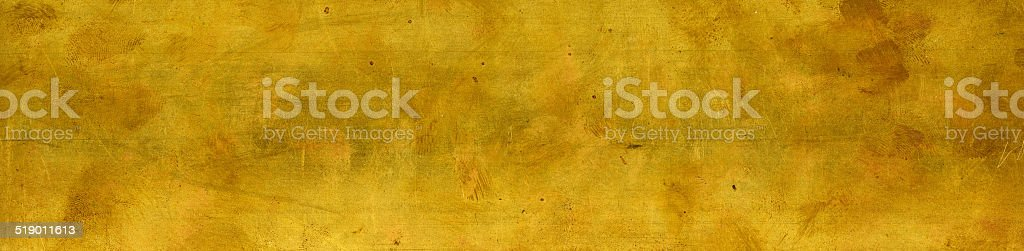 Textured brass metal plate stock photo